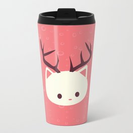 Reindeer Cat Metal Travel Mug