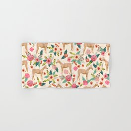Palomino Horse floral farm nature animal horse lovers ponies florals Hand & Bath Towel