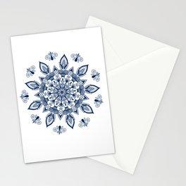 RB Mandala Design with botanical elements Stationery Cards