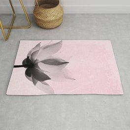 Lotus Flower   Pink Background Rug