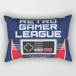 Geeky Gamer Chic Classic Vintage Gaming NES Inspired Vintage Gamer League Old School Cool Rectangular Pillow