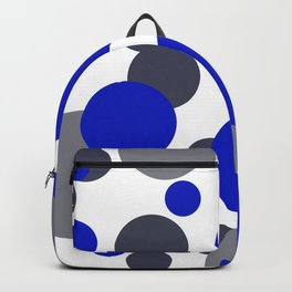 Bubbles blue grey- white design Backpack