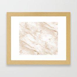 Marchionne warm caramel marble Framed Art Print