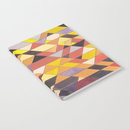 Triangle Pattern No.8 Black and Yellow Notebook