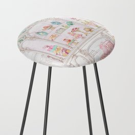 French Patisserie  Counter Stool