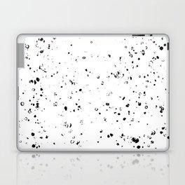 Black and White Spilled Ink Splatter Splashes Speckles Laptop & iPad Skin