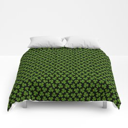 Green Irish Shamrocks Pattern Comforters
