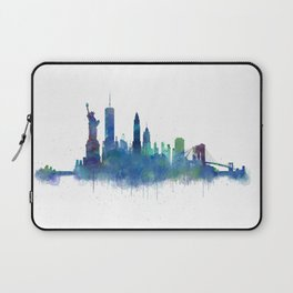 NY New York City Skyline NYC Watercolor art Laptop Sleeve