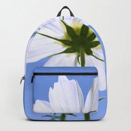 White Cosmos Flower Backpack