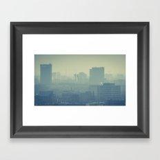 Hazy Bratislava Framed Art Print