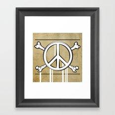 Peace Crossbones Framed Art Print