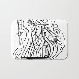 Girl and unicorn Bath Mat