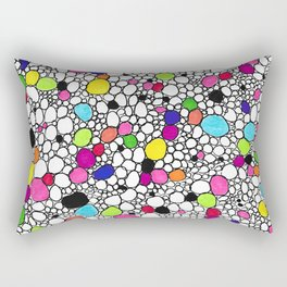 Circles and Other Shapes and colors Rectangular Pillow