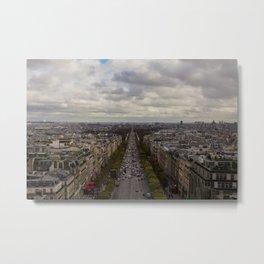 Champs Elysees Metal Print
