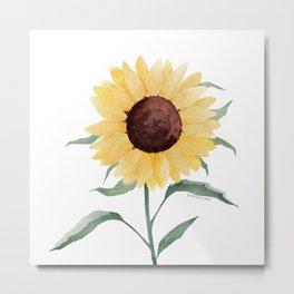 Watercolor sunflower Metal Print