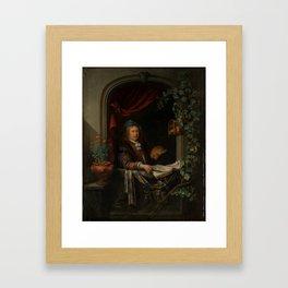 """Gerard Dou """"Sef-portrait"""" Framed Art Print"""