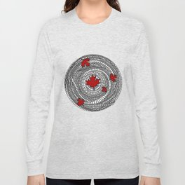 Canadian Maple Red Long Sleeve T-shirt