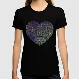 lace weave in deep blues T-shirt