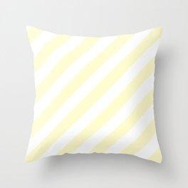 Diagonal Stripes (Cream/White) Throw Pillow