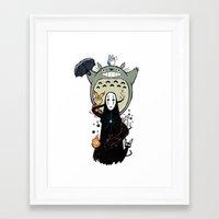 ghibli Framed Art Prints featuring Ghibli by AlexisMorand