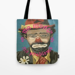 Vintage Paint By Number PBN Mo Money Clown Tote Bag