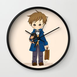Newt Scamander & Niffler. Wall Clock
