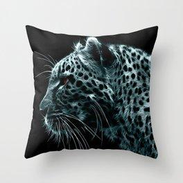 White leopart Throw Pillow