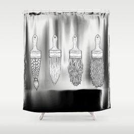 Brush type Shower Curtain