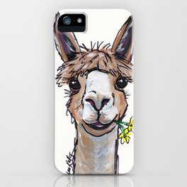 Lycoming the Alpaca, Alpaca Art iPhone Case