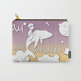 boy flying with whale Carry-All Pouch