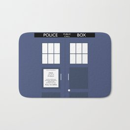 Smaller On The Outside Tardis Bath Mat