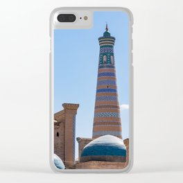 Islam Khodja Minaret in Khiva Clear iPhone Case