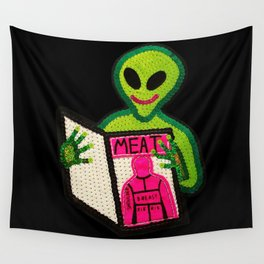 Hungry Bad Alien  Wall Tapestry