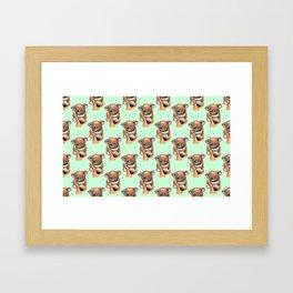 kawaii koala pattern Framed Art Print