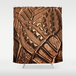 Natural Copper Grenade Shower Curtain