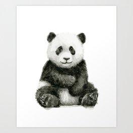 Panda Baby Watercolor Art Print