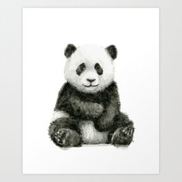 Panda Baby Watercolor Art Print