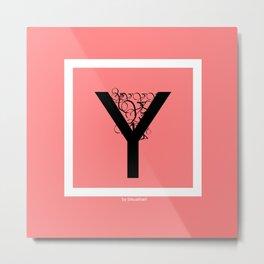 pink Y Metal Print