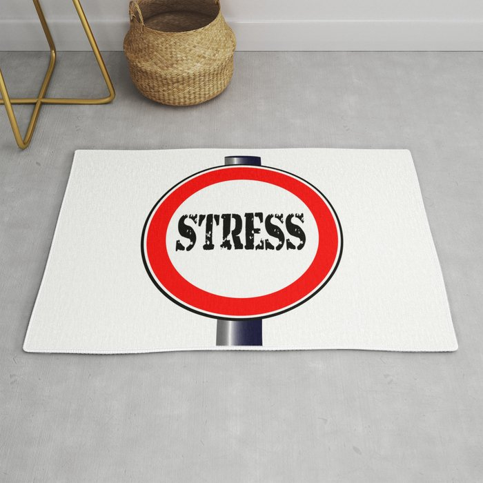 Stress In Rug.Stress Traffic Sign Rug By Homestead