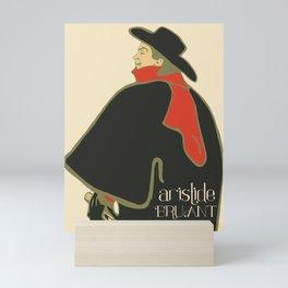 Bruant in his cabaret retro vintage Mini Art Print