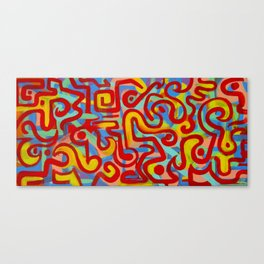 rojo caliente con aguacate Canvas Print