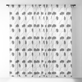 Flower Stems Sheer Curtain