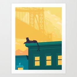 Urban jaguar Art Print