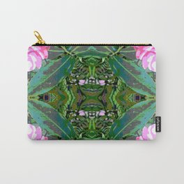 Kauai Flower Drawing Symmetry Graphic Print Carry-All Pouch