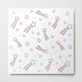 Rainbow stars pattern Metal Print