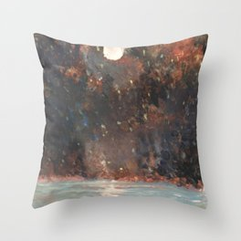 Luna Estelar Throw Pillow