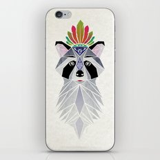 raccoon spirit iPhone & iPod Skin