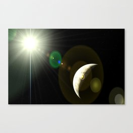 moon lens flare Canvas Print