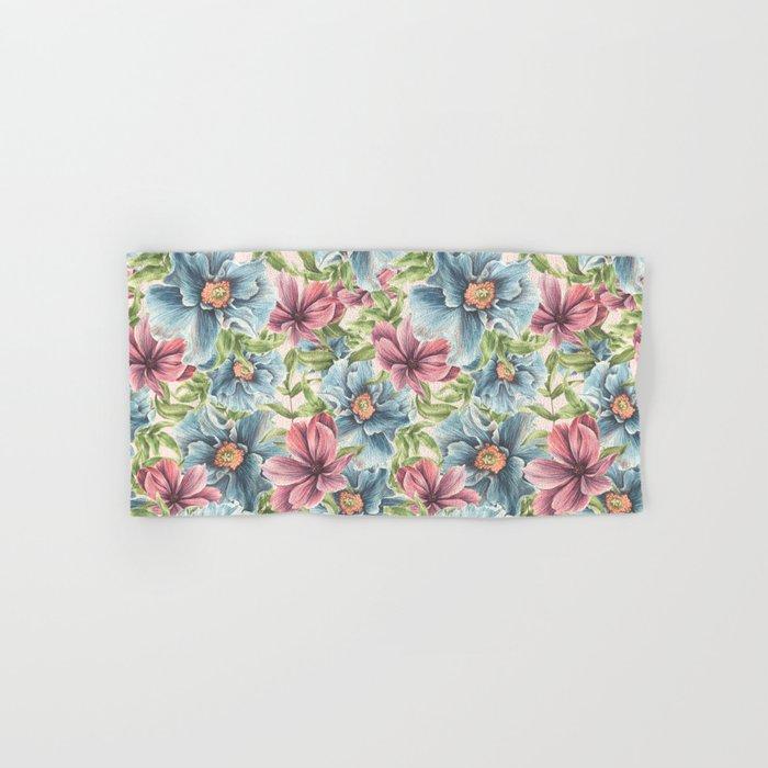 Hibiscus Vintage Pattern Hand & Bath Towel