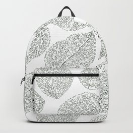Greenery White Forest Green Foliage Pattern Backpack